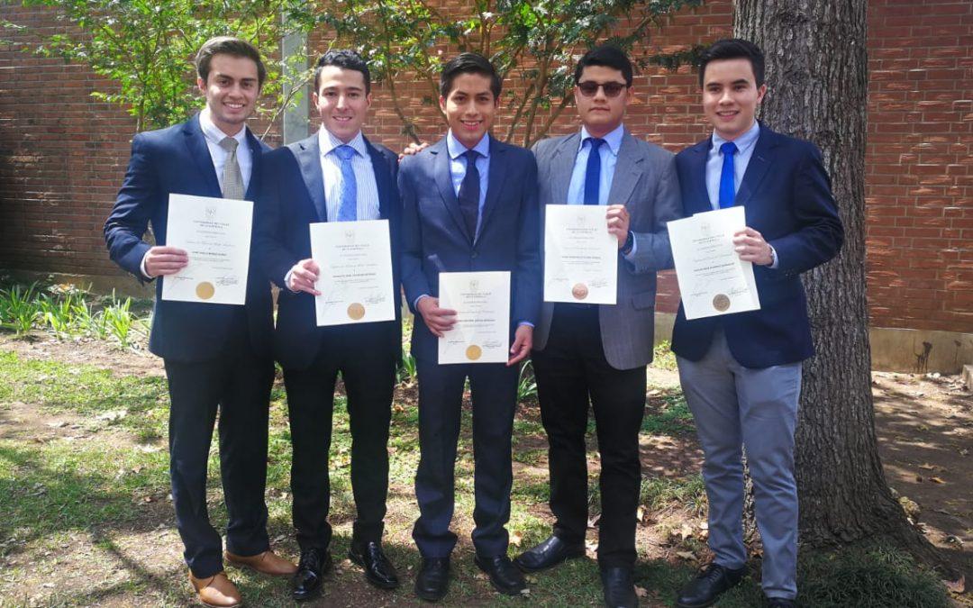 Socios del Club Universitario recibieron distinción académica en la Universidad del Valle